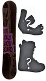 155cm Airwalk Logo Snowboard Package with Boots and Bindings