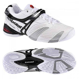 Babolat Propulse 3 Mens Size 6 Tennis Shoes White/Silver/Grey Andy Roddick