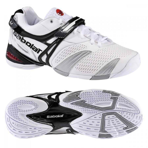 Babolat Propulse 3 Mens Size 7 Tennis Shoes White/Silver/Grey Andy Roddick