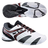 Babolat V-Pro All Court Mens 6.5 Tennis Shoes White/Red/Grey