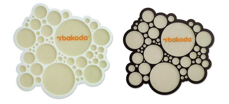 "Bakoda Circles Traction Stomp Pad  5.5"" x 5"" Large & Sticker"