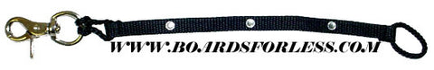 "Board Divas ""Bling-Bling"" Womens Snowboard Leash Crystal"