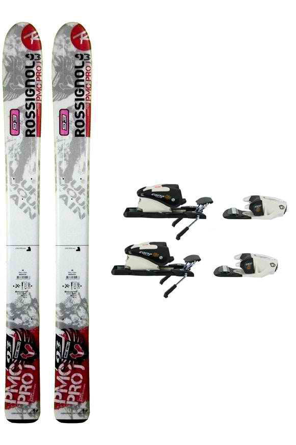 93cm Rossignol PMC Pro Jr Skis with Rossignol 25-L Bindings Package