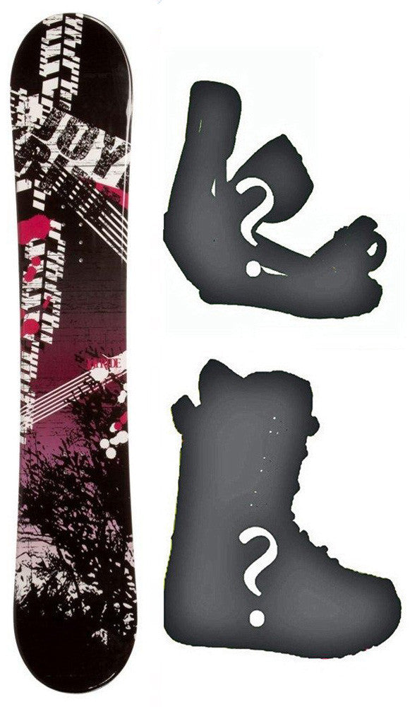155cm Joyride Bush Pink Camber Snowboard, Build a Package with Boots and Bindings.