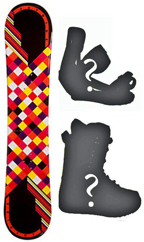 140cm Joyride Checkers Black Camber Snowboard, Build a Package with Boots and Bindings.