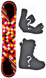 140cm Joyride Checkers Black Rocker Snowboard, Build a Package with Boots and Bindings.