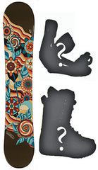 135cm Joyride Flower Camber *Blem* Snowboard, Build a Package with Boots and Bindings.