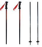 "K2 Composite Power Rental Ski Poles, Ski Skiing Pole with Tab Grip, Black Red 40"" 100cm"