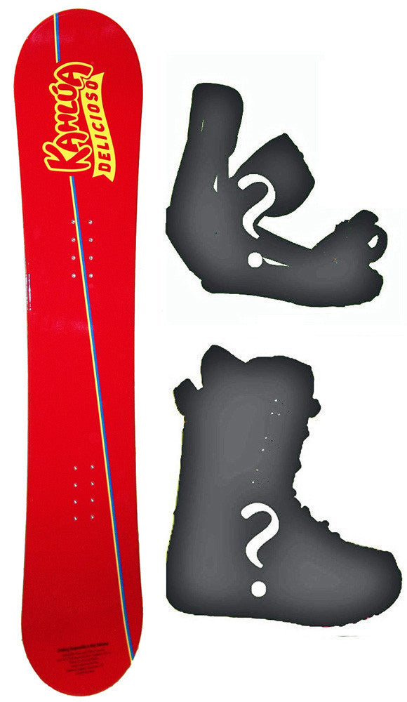 "154cm Kahlua ""Delicioso"" Camber Snowboard, Build a Package with Boots and Bindings."