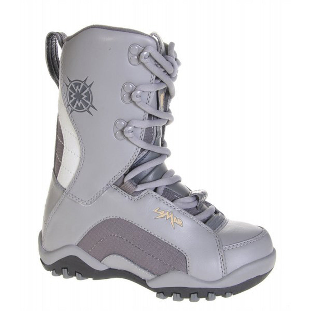 Lamar Force Boys Snowboard Boots Size 2 Gray