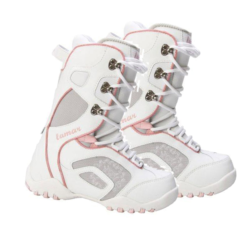 Lamar Women's Force Linered Snowboard Boots White Size 6 or Kids 4.5