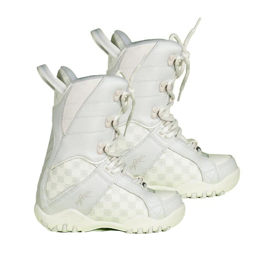 Lamar Justice Snowboard Boots Gray White Kids Youth Size 5 (23.8cm)