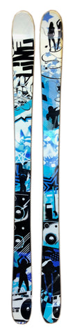 157cm Line Shadow Blue White Twin Tip Blem Skis 11cm / 8 cm / 10.2cm