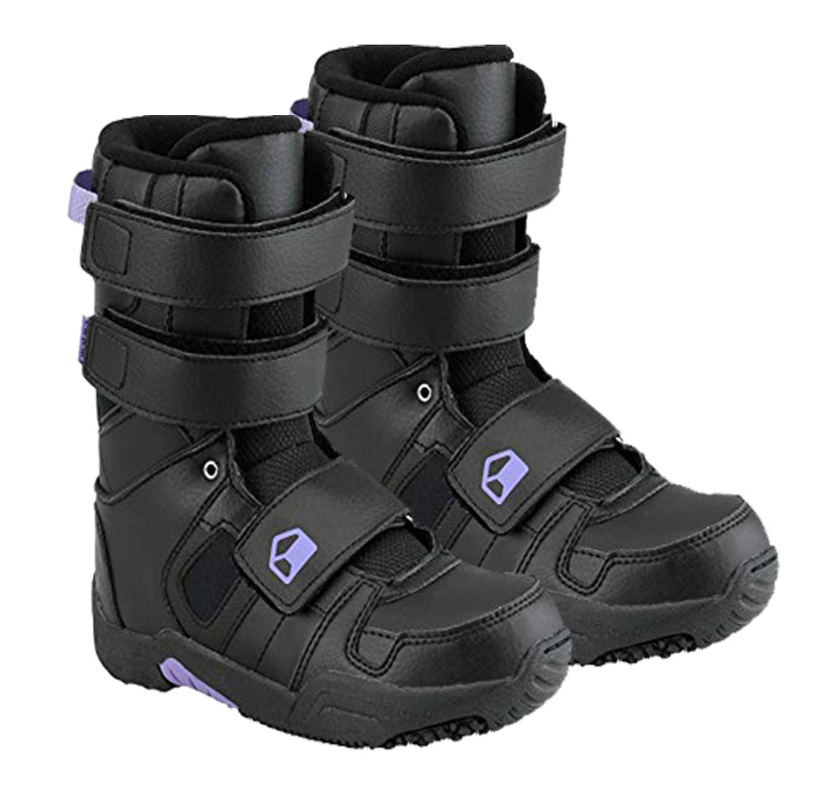 Liquid Snowboard Boots by K2 Cirrus Velcro  5 6 - Black Purple Kids Youth