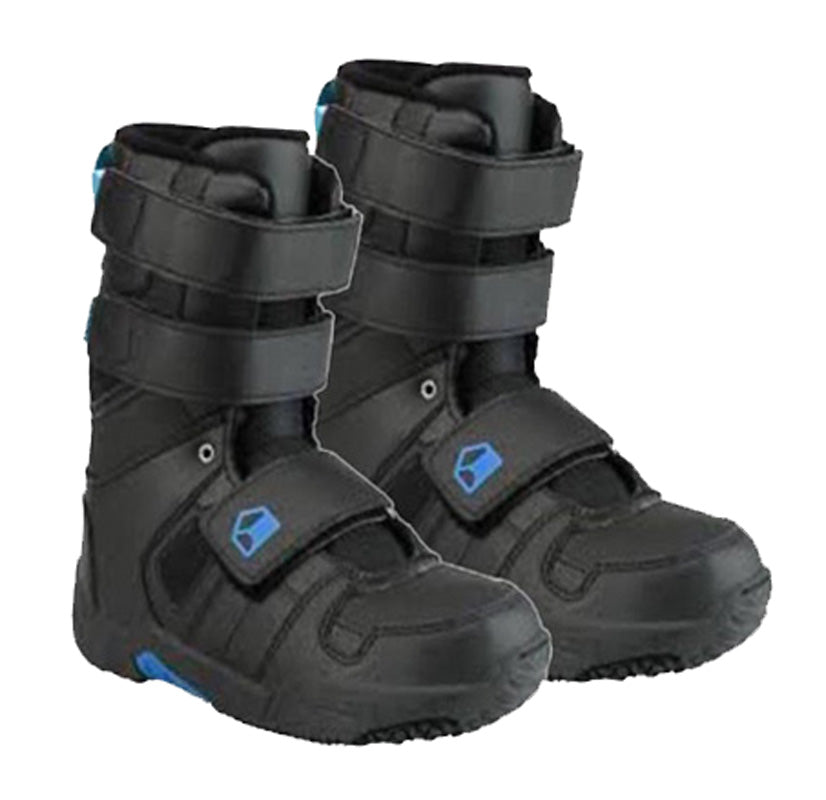 Liquid Snowboard Boots by K2 Generation Velcro 3 4 5 6 - Black Blue Kids Youth