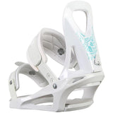 M3 Solstice Snowboard Bindings XS-S White-Baby Blue fits 3-6 kids 4-7 womens
