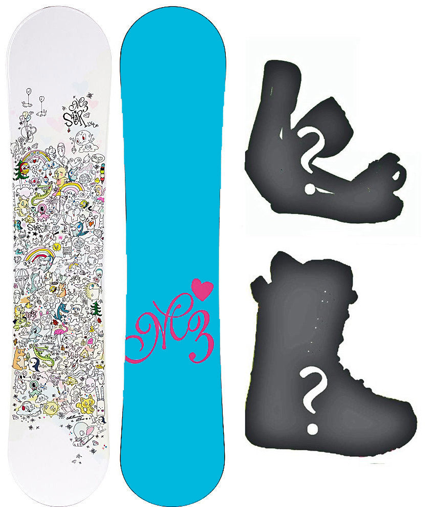 140cm M3 Star EZ Rocker Hybrid Snowboard or Build a Package with Boots and Bindings