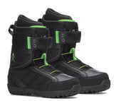 M3 Millenium Three Tactic Black Green Mens Snowboard Boots SIZE 7