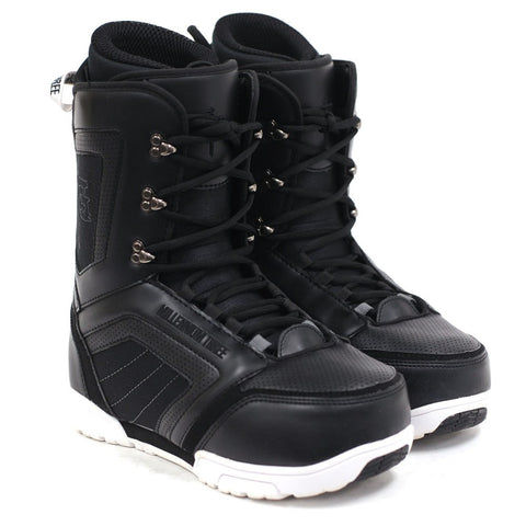 M3 Millenium Three Tactic Black/White Mens Snowboard Boots SIZE 9