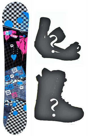 150cm M3 Vibe Rocker Snowboard, or Build a Package with Boots and Bindings