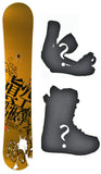 154cm Makuw Hero Rocker Snowboard, Build a Package with Boots and Bindings.