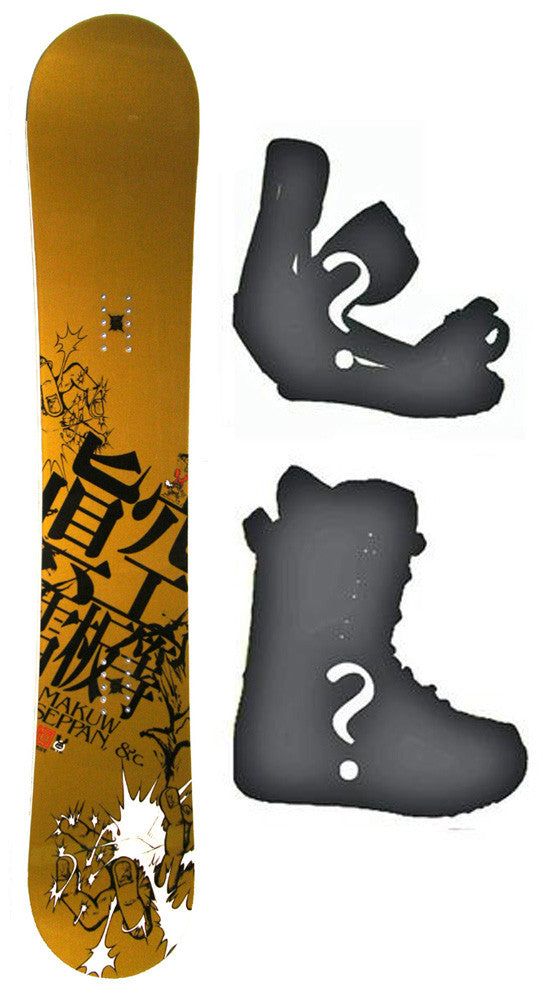 152cm Makuw Hero Gold *Blem* Camber Snowboard, Build a Package with Boots and Bindings.