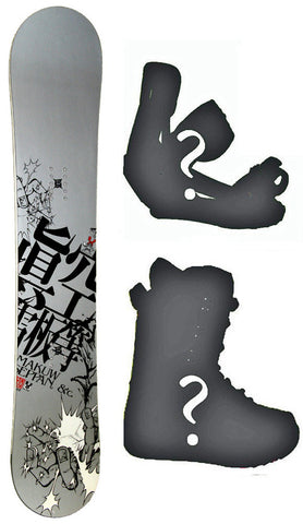 140cm Makuw Hero Silver Rocker Snowboard, Build a Package with Boots and Bindings.