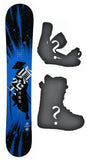 152cm Makuw Katana Sapient Colab Blue Camber Snowboard, Build a Package with Boots and Bindings.