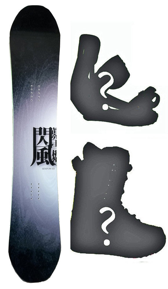 151cm Makuw Sempuw Rocker Snowboard, Build a Package with Boots and Bindings.