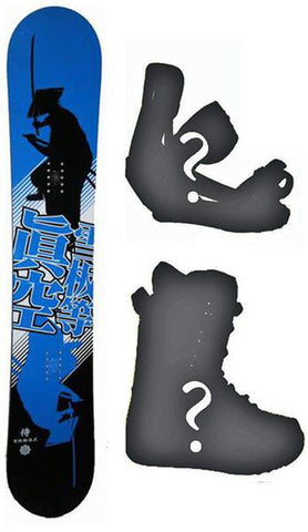 140cm Makuw Shadow Blue Camber *Blem* Men's Snowboard, Build a Package with Boots and Bindings.