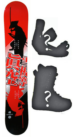 140cm Makuw Shadow Red Camber *Blem* Snowboard, Build a Package with Boots and Bindings.