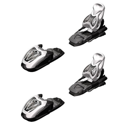Marker M Tech 4.5 Ski Bindings with Brakes White Black  DIN .75-4.5