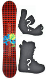 145cm Modern Amusement Grid-Tin Camber, *Blem* Snowboard, Build a Package with Boots and Bindings.