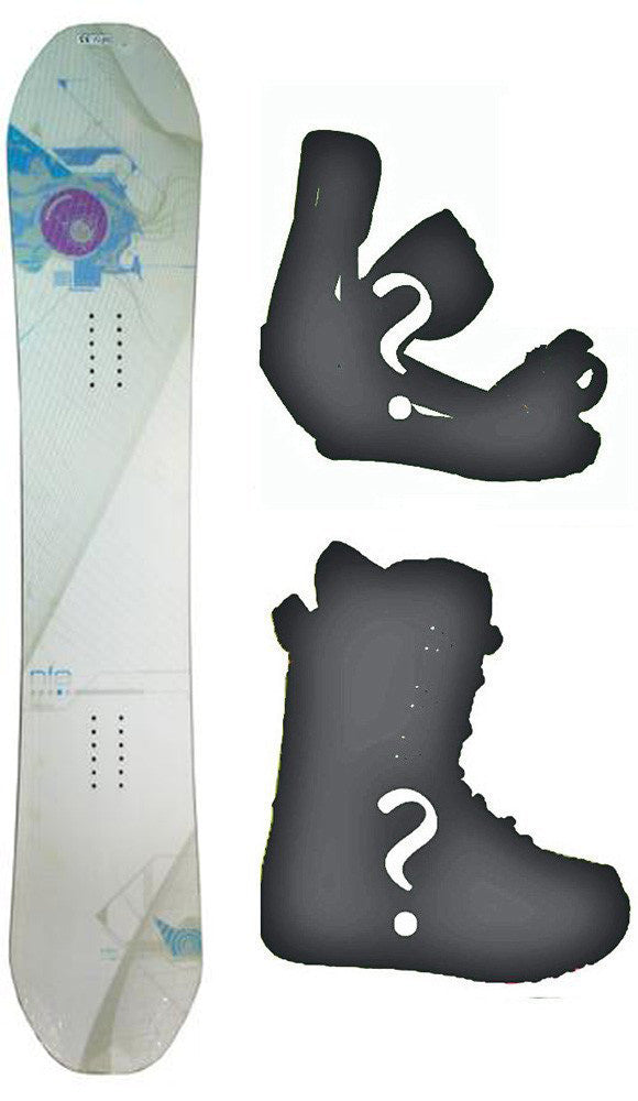 153cm NFA Desire W-Camber Snowboard, Build a Package with Boots and Bindings.