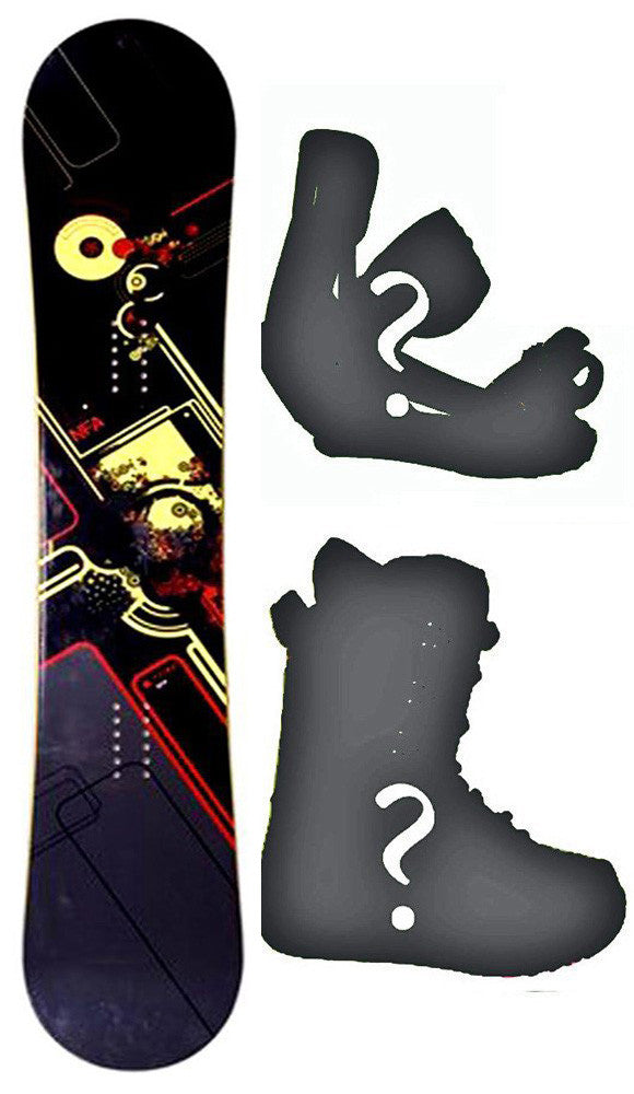 153cm NFA Peak W-Rocker Snowboard, Build a Package with Boots and Bindings.