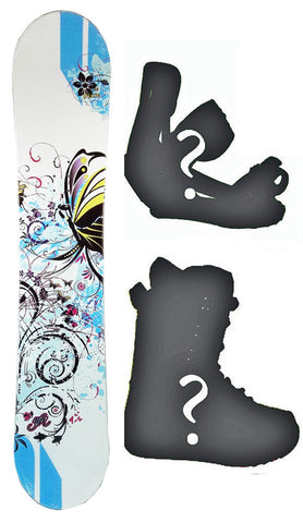 150cm NFA Pixie Rocker Womens Snowboard, Build a Package with Boots and Bindings.