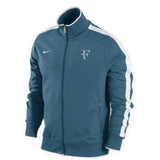 Nike Roger Federer RF Tennis Jacket Teal Track Warm Up 2010 French Open L  XXL