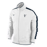 Nike Roger Federer RF Tennis Jacket White 2009 U.S. Open White Black Track Warm Up L XL XXL