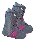 Northwave Vintage Snowboard Boots Grey Violet, Girls 4.5-5.5 (runs 1/2-1 size small)