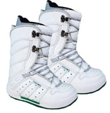 Northwave Vintage Snowboard Boots Blem White Green Kid 3.5-4.5 (runs 1/2-1 size small)