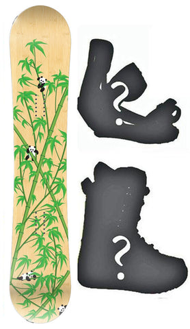 147cm Play Panda Rocker Board or Build a Snowboard Package With Boots And Bindings