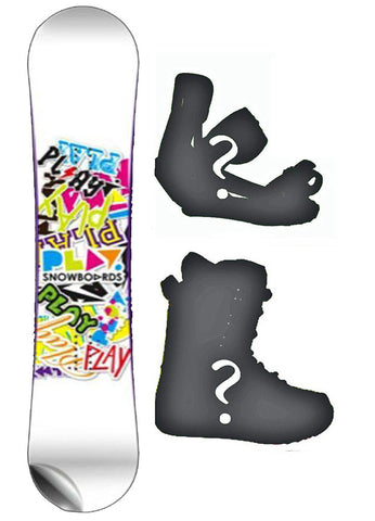 155cm Play Decal Rocker Snowboard, or Build a Package with Boots and Bindings