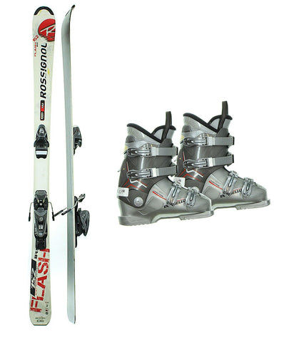142cm Rossignol Flash Irs Skis & Axium 100 Bindings & Dalbello Boots Used experience rtl Package