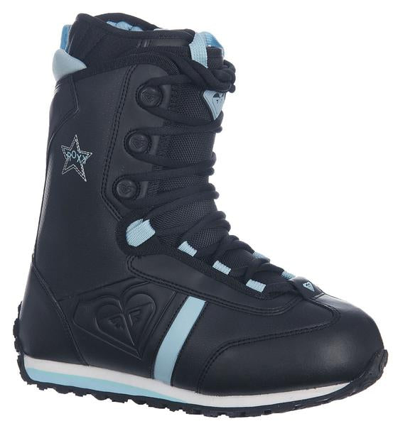 Roxy Track Lace Womens   Snowboard Boots Size 6.5 Black Blue.