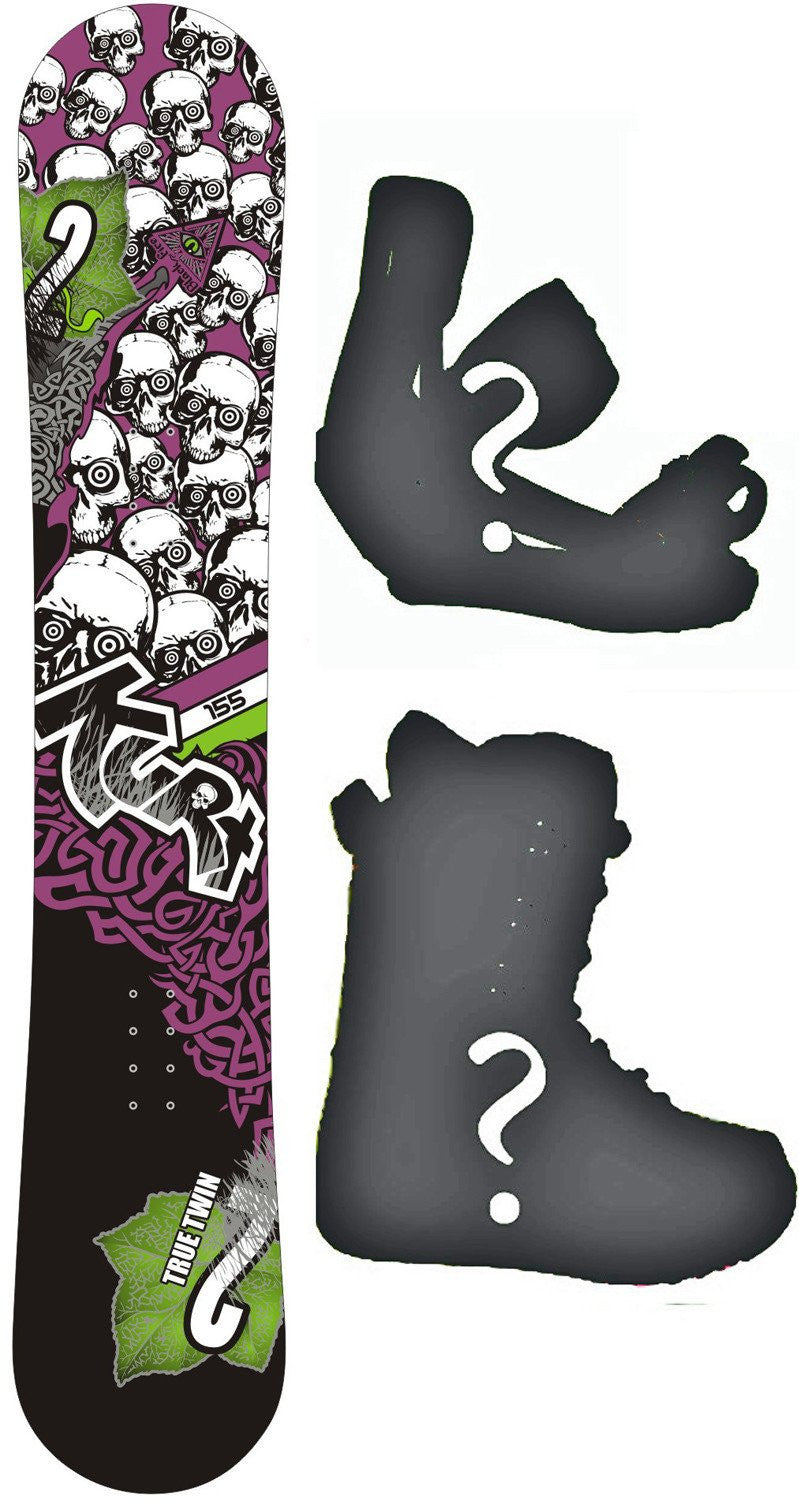 156cm Black Fire Kurt Rocker Snowboard, Build a Package with Boots and Bindings