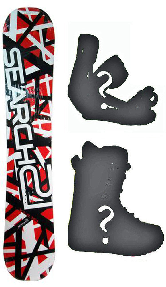 155cm Search 21 Van Rocker *Blem* Snowboard, Build a Package with Boots and Bindings.