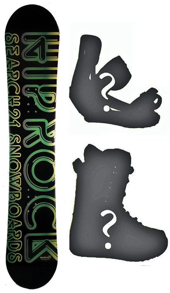 153cm Search 21 Hip Rock, Rocker Snowboard, Build a Package with Boots and Bindings.
