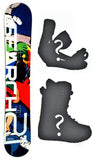 153cm Search 21 Komick Rocker Snowboard, Build a Package with Boots and Bindings.