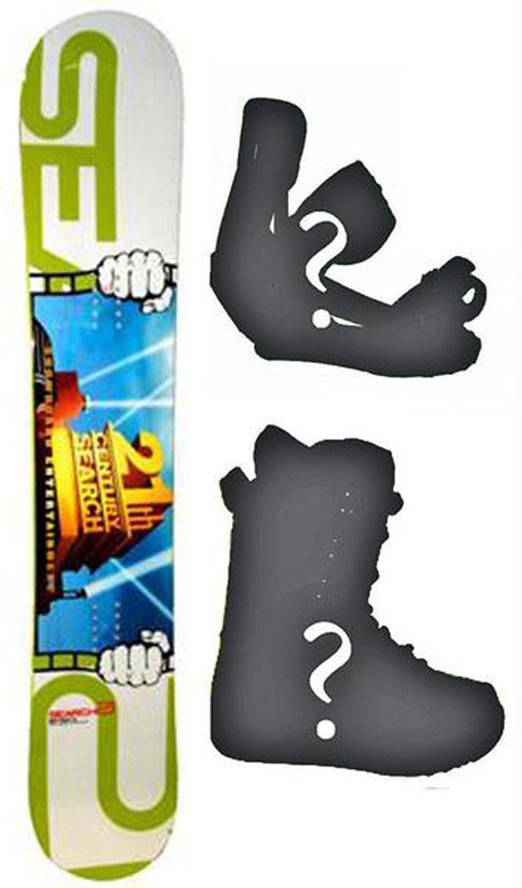 157cm Search 21 Movie Theater Rocker Snowboard, Build a Package with Boots and Bindings.