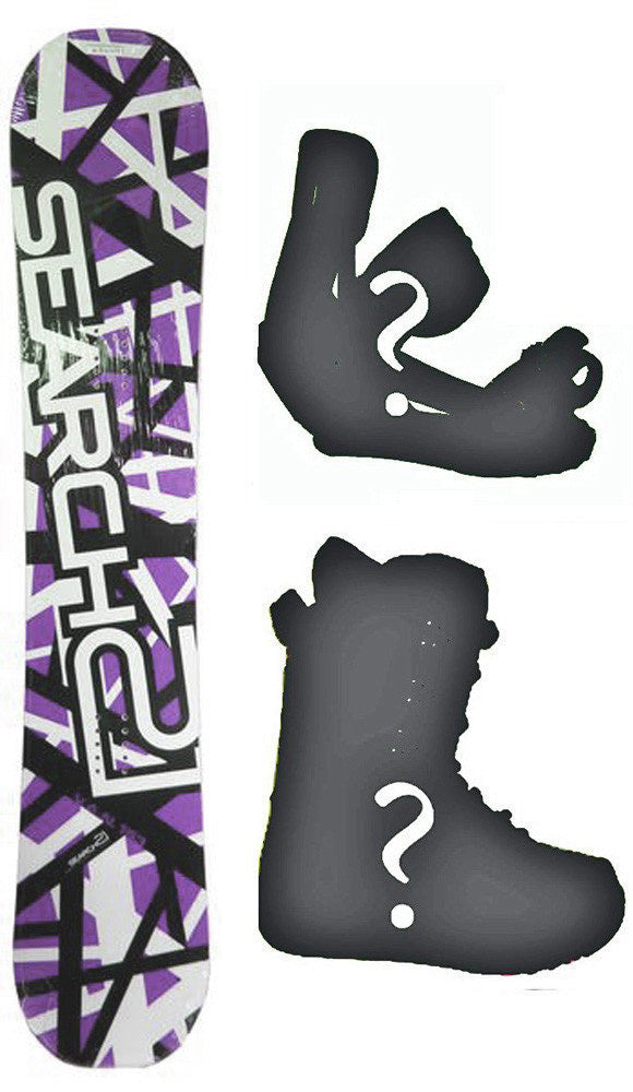 155cm Search 21 Van Purple Rocker *Blem* Snowboard, Build a Package with Boots and Bindings.